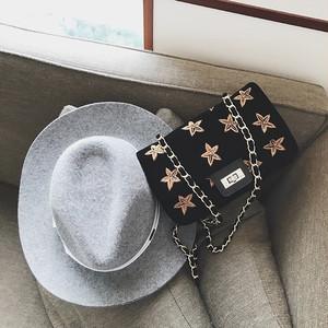 刺繍STARバッグ チェーンバッグ ショルダーバッグ