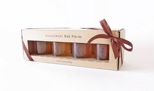 国立養蜂 120g✕4本 オリジナル箱入ギフトセット