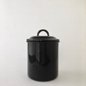 黒いホーローの保存ビン|Black Enamel Jar