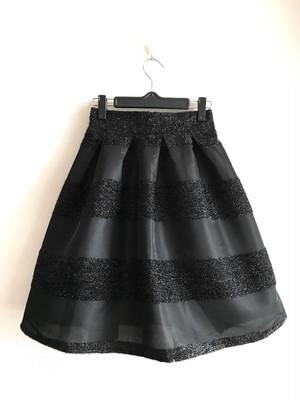グリッターボーダースカート ブラック