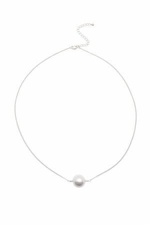 Pipe Pearl Necklace | SILVER