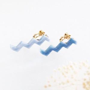 WAVEイヤリング/Indigo Blue