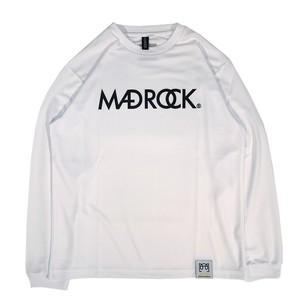 マッドロックロゴ ロンT/ドライタイプ/ホワイト&ブラック