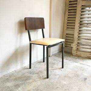 Teak & PVC  Industrial Retro Vintage Chair 60's オランダ