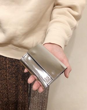 ebagos / 三つ折りスナップボタン財布【ミラーメタリック】