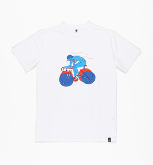 by Parra - t-shirt break away girl (White)