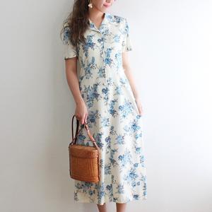 【vintage】花柄ロングワンピース