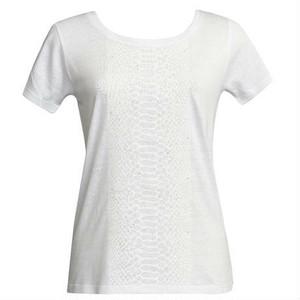 WHITE PYTHON PRINTED T-SHIRTS
