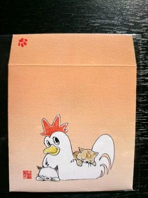 (寄付)十二支ポチ袋 酉のイラスト