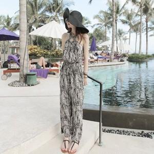 【ワンピース】夏ファッションヨーロッパプリントノースリーブオールインワン22000836