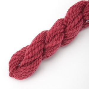 コリデールダークピンク ゲージ用糸サンプル (corri14) 手紡ぎ毛糸オーダー