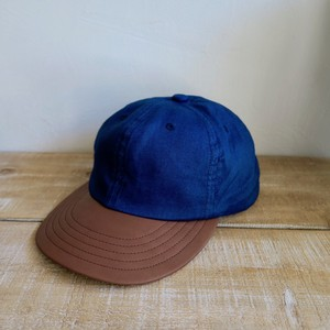 Linen & Leather Combination  Cap