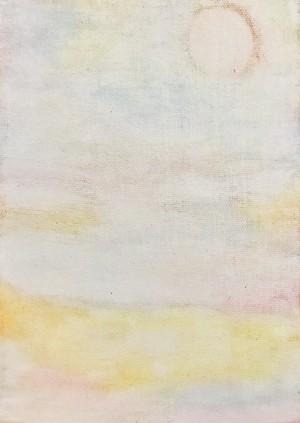 ポストカード「真昼の月」