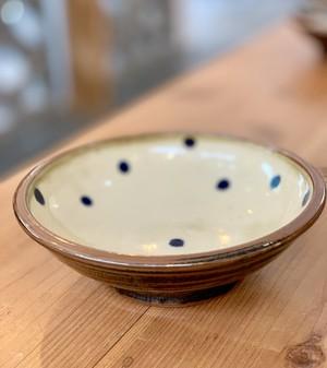 6寸 鉢皿 福田陶器 (点打)