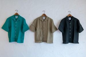 JAMES MORTIMER リネンオープンカラーシャツ