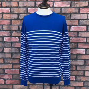 Deadstock John Smedley Regatta Striped Pullover C/N LS Medium