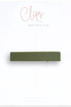 BABY BOW CLUB Bar Clip // Olive