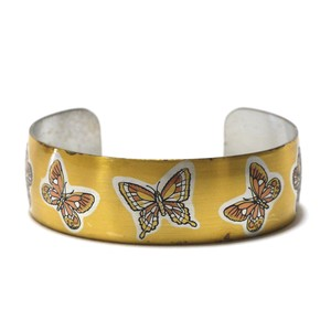Reed & Barton Damascene Vintage Pewter Papillon Bangle