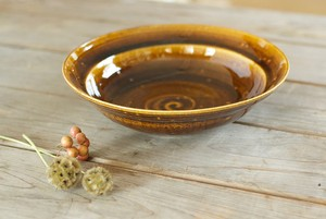 飴釉カレー・パスタ皿(リム鉢)