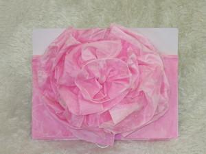 【販売】フラワー帯5 桜柄・濃いピンク色