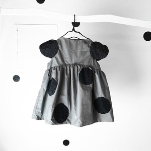 UNEVEN DOTS SLEEVES DRESS