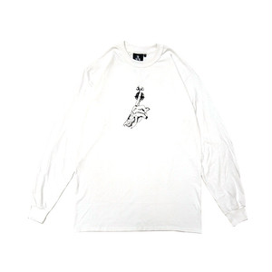 KPTOKYO - BACKSTABBER L/S TEE (White) With Sticker