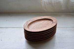 オーバル皿・L(くるみ)/ 山口和宏