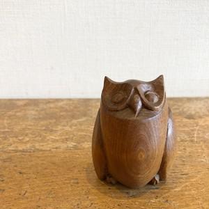 木彫りフクロウ L