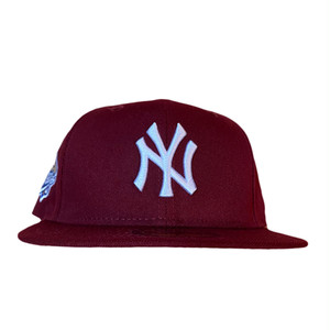 NEW ERA New York Yankees 1999 World Series 59Fifty Fitted / Burgandy×White  (Peach Brim)