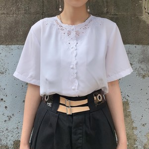 Euro vintage embroidery s/s blouse