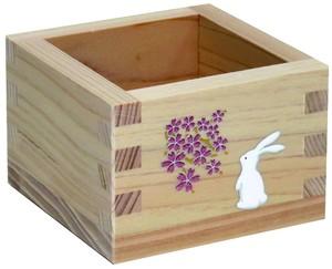 加飾枡 檜・蒔絵5勺 「ウサギと桜」