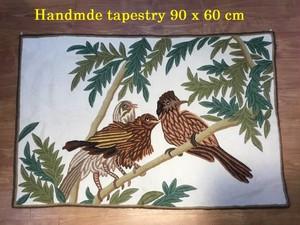 カシミールウール手織り手刺繍  B201918
