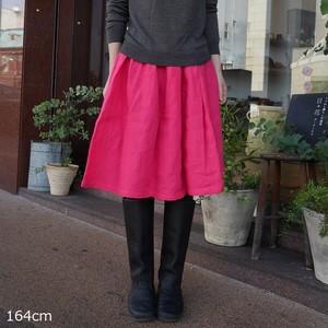 リネンギャザースカート(レギュラー丈) YAMMA ヤンマ産業