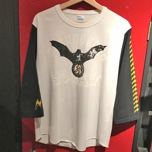 バットベースボールT-Shirt 7分袖