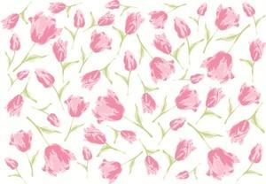 チューリップ 転写紙 ピンク