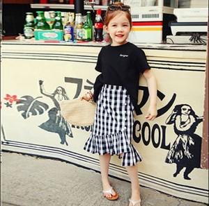 Kids♡アシンメトリーチェックフリルスカート/大人風/子供服/キッズ/女の子
