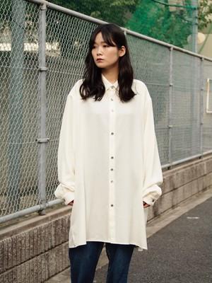 kujaku 19A/W 薊(azami)shirts white