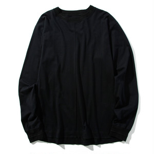 front tucked L/S tee(black)