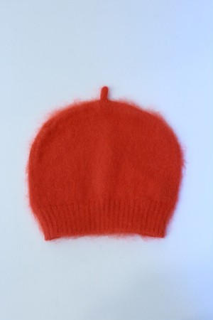 "MIND THE HAT ""Mohair Shaggy Cap ""(red)"