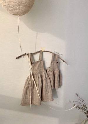 monbebe ヘリボーンサロペット スカート