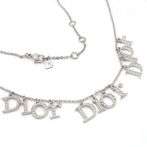 Christian Dior クリスチャンディオール ネックレス ラインストーン シルバーメッキ ヴィンテージ 中古 / 質屋 つじの