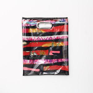 【一点もの】No.328  スカーフで作ったPVCクラッチバッグ