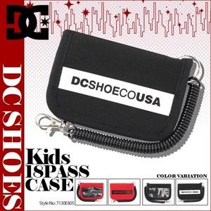 7130E805 ディーシー パスケース カードケース 子供 キッズ ジュニア 小銭入れ コインケース 財布 人気ブランド 赤 レッド 黒 ブラック 18PASS CASE DC SHOE