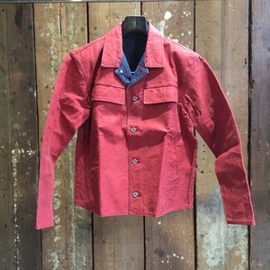08sircus / red pigment print denim jacket