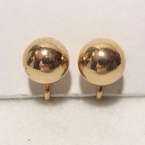 金色メタルのボールイヤリング コスチュームジュエリーのセール通販 5849E