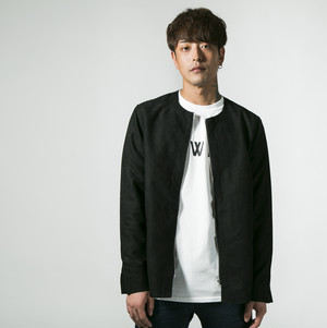 【HEDWiNGサイト限定】Zip Suede Jacket Black