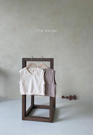 Select  beige / Vネックベスト