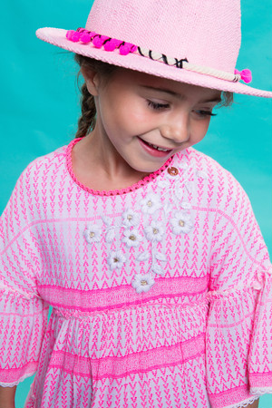 Girls Embroidered Flowers Dress