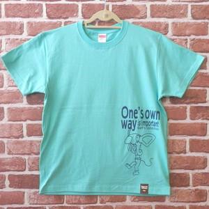 あっかんべ~ねずみ 半袖Tシャツ ミントグリーン