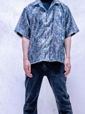 【UNISEX - 1 Size】SHEER PAISLEY SHIRT / Blue